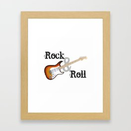 Rock and Roll Guitar Framed Art Print