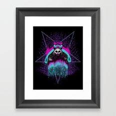 Possessed Panda Framed Art Print