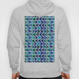 Turquoise and Green Aztec Pattern. Hoody