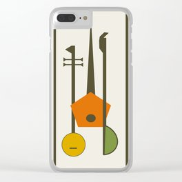 Mid-Century Modern Art Musical Strings Clear iPhone Case