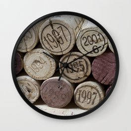 Vintage Wine Corks Wall Clock