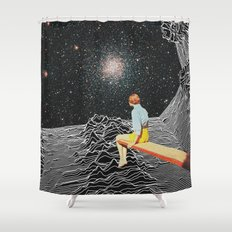 unknown pleasures to Infinity Shower Curtain