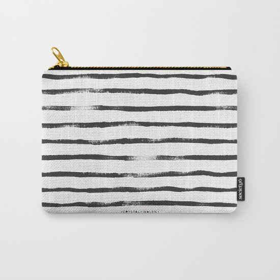 Thin Brush stripe Carry-All Pouch