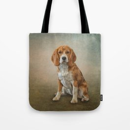 Drawing Dog Beagle Tote Bag