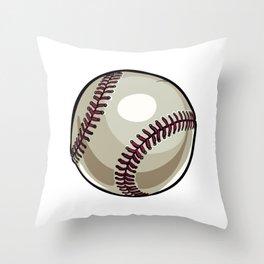 Cartoon Baseball Clipart Throw Pillow