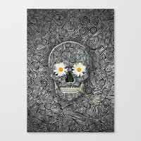 calavera Canvas Prints featuring Calavera by AkuMimpi