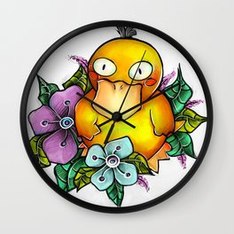 Psyduck being PsyCute Wall Clock