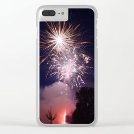 Independence Sky Clear iPhone Case