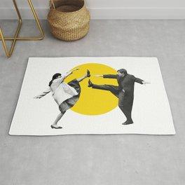 Anna Karina & Jean Paul Belmondo on the set of Une Femme Est Une Femme (1961) /Artwork, film designs Rug