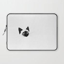 Curious Siamese Kitten Laptop Sleeve