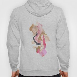 Watercolor Pink Black Flow | [dec-connect] 10. slither Hoody
