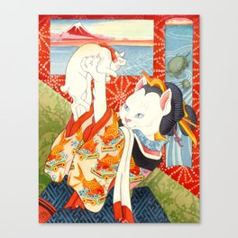Year of the Dog Series/ Red Mt. Fuji Canvas Print
