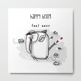 Feel Easy Metal Print