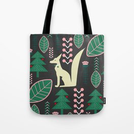 Traditional Christmas festival with fox Tote Bag