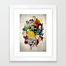 Back In The Day Framed Art Print