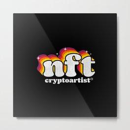NFT Cryptoartist Retro Metal Print