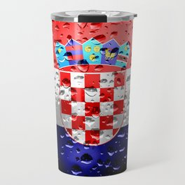 Flag of Croatia - Raindrops Travel Mug