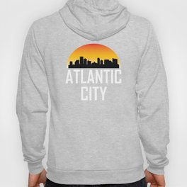 Sunset Skyline of Atlantic City NJ Hoody