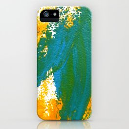 Wings Collection orange/cyan iPhone Case