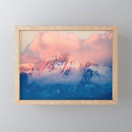 Stay Rocky Mountain High Framed Mini Art Print