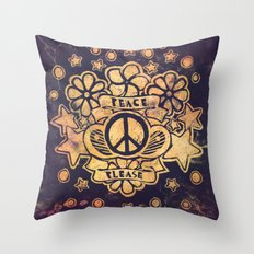 Peace Please Throw Pillow