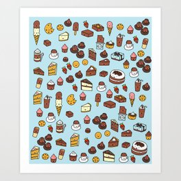 Chocolate Treats Art Print