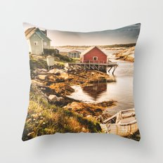 Nova Scotia landscape Throw Pillow