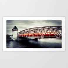 Treptow - crossing the Spree Art Print