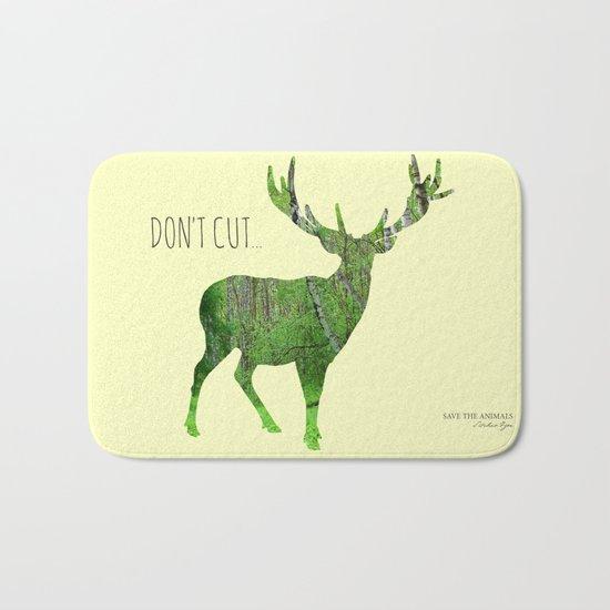 Save the animals - Deer Bath Mat
