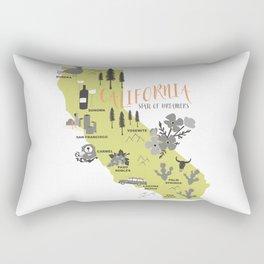 California Map Rectangular Pillow