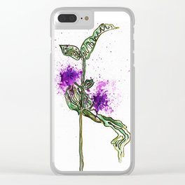 Milkweed Clear iPhone Case