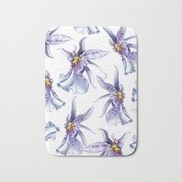 GLOWY ORCHIDS Bath Mat