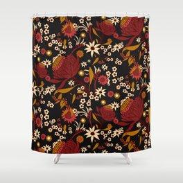 Australian Natives Red Blossom Shower Curtain