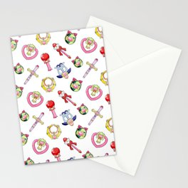 cute tokyo mew mew items pattern Stationery Cards