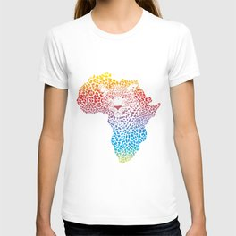 Abstract leopard skin and head T-shirt