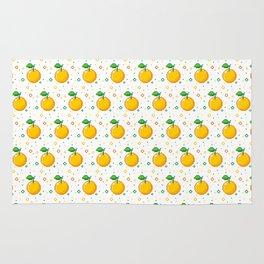 Pixel Oranges - White Rug