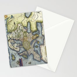 Map of Europe by Abraham Ortelius - 1571 Stationery Cards