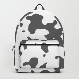 Large Spots - White and Dark Gray Backpack