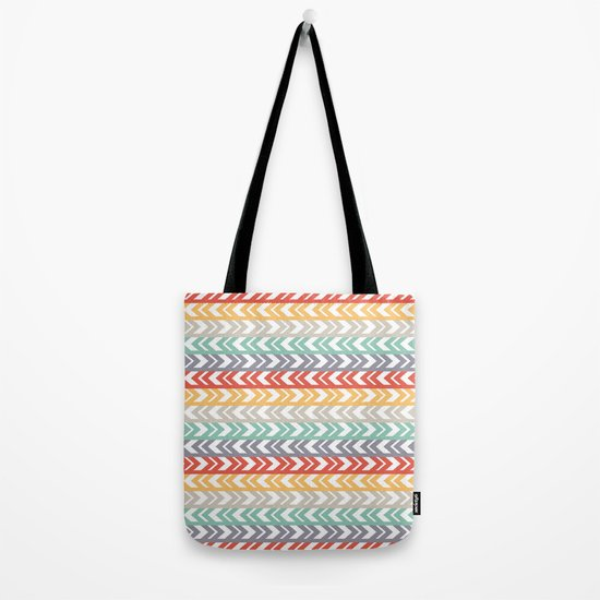 Summer Chevron  Tote Bag