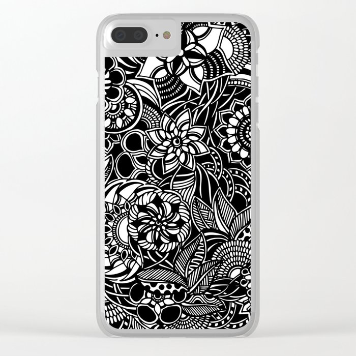 Blooms II Clear iPhone Case