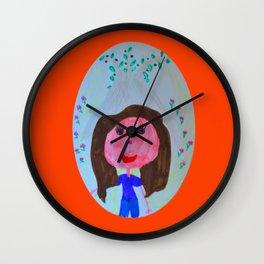 Elisavet loved the olive tree Wall Clock