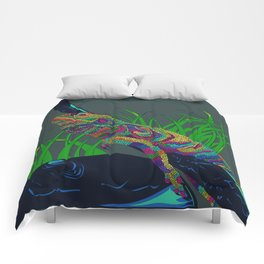 Colorful Lizard Comforters