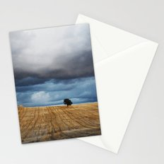 Lonely tree waiting for the storm Stationery Cards