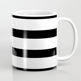Black Stripes on White Background Coffee Mug