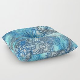 Lost in Blue - a daydream made visible Floor Pillow