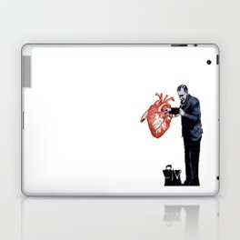Banksy - Docter checking a heart for valentine Laptop & iPad Skin