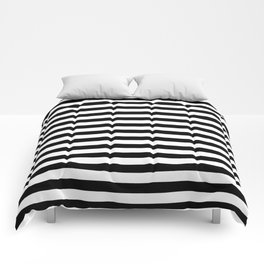 Modern Black White Stripes Monochrome Pattern Comforters