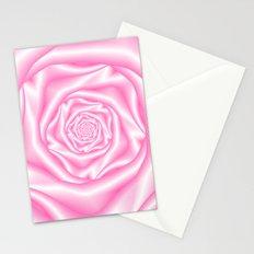 Pale Pink Spiral Rose Stationery Cards