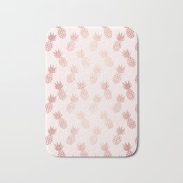 Rose Gold Pineapple Pattern Bath Mat