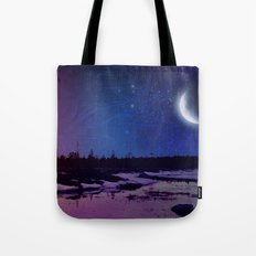 Night - From Day And Night Painting Tote Bag